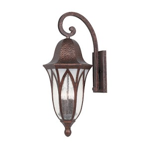 Designers Fountain Four Light Burnished Antique Copper Clear & Frosted Seedy Glass Wall Lantern - 20631-BAC