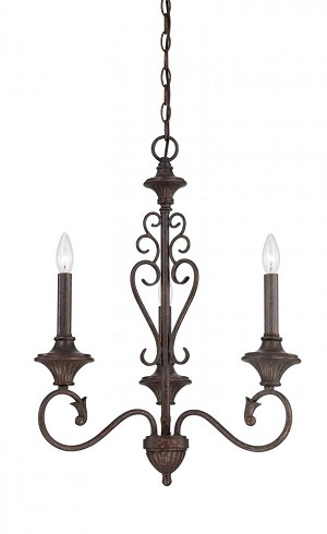 Designers Fountain Three Light Burnt Umber Up Chandelier - 84883-BU