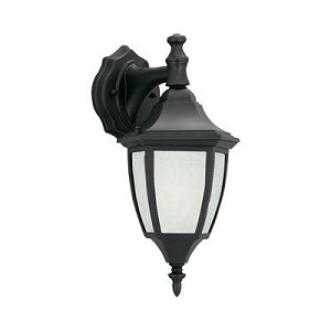 Designers Fountain One Light Black Glacier Glass Wall Lantern - ES2461-GL-BK
