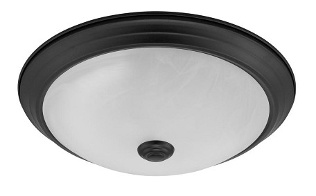 Designers Fountain LED Oil Rubbed Bronze Alabaster Glass Bowl Flush Mount - LED101-ORB-AL