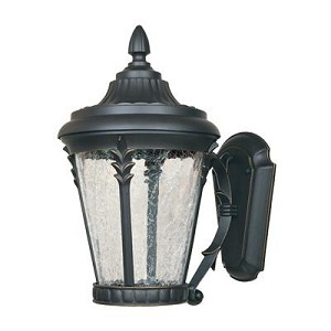 Designers Fountain Aged Bronze Patina Clear Crackle Glass Wall Lantern - LED21631-ABP