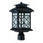 Designers Fountain Oil Rubbed Bronze Clear Glass Post Light - LED22336-ORB