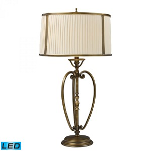 Dimond One Light Vintage Brass Patina Table Lamp - 11053/1-LED
