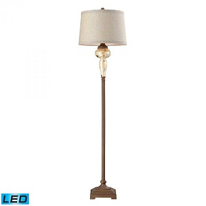 Dimond One Light Distressed Pearlescent With Rust Floor Lamp - 113-1128-LED