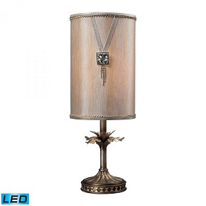 Dimond One Light Antique Silver Table Lamp - 93-10009-LED