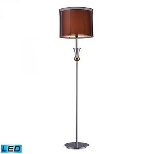 Dimond One Light Chrome And Gold Plate Floor Lamp - D1468-LED