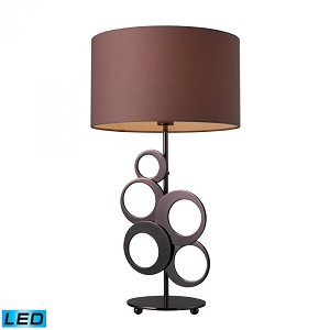 Dimond One Light Chocolate Plating Table Lamp - D1484-LED