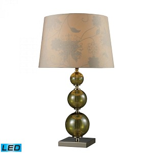 Dimond One Light Vivi Green And Polished Nickel Table Lamp - D1611-LED