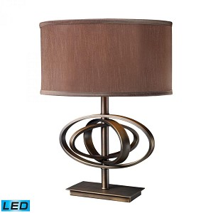 Dimond One Light Oil Rubbed Bronze Table Lamp - D1803-LED