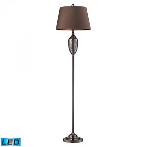 Dimond One Light Bronze Mosaic/coffee Plating Floor Lamp - D2234-LED