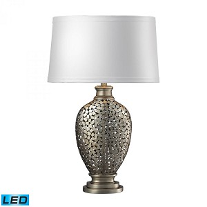 Dimond One Light Silver With Antique Table Lamp - D2275-LED