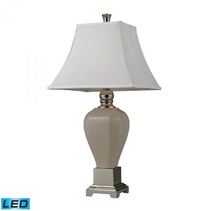 Dimond One Light Polished Nickel Table Lamp - D2315-LED