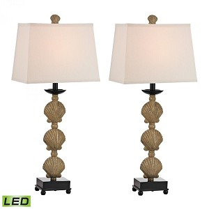 Dimond One Light Galati Gold Off White Linen Shade Table Lamp - D2449/S2-LED
