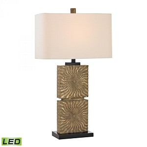 Dimond One Light Galati Gold Off White Linen Shade Table Lamp - D2456-LED