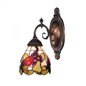 ELK Lighting One Light Tiffany Bronze Wall Light - 071-TB-19