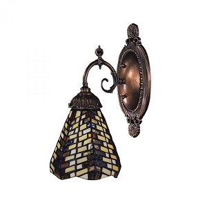 ELK Lighting One Light Tiffany Bronze Wall Light - 071-TB-20