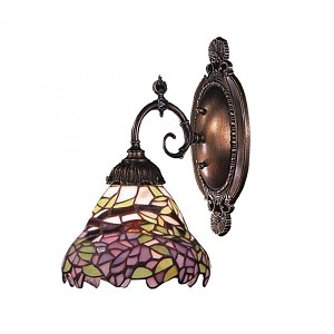 ELK Lighting One Light Tiffany Bronze Wall Light - 071-TB-28