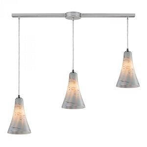 ELK Lighting Three Light Satin Nickel Multi Light Pendant - 10221/3L-whs