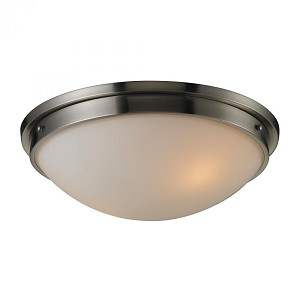 ELK Lighting Two Light Brushed Nickel Bowl Flush Mount - 11441/2