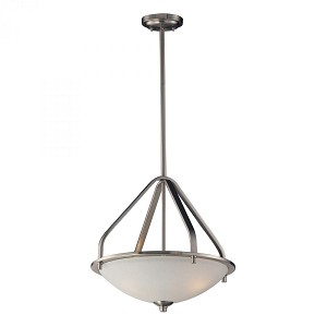 ELK Lighting Three Light Brushed Nickel Up Pendant - 17143/3
