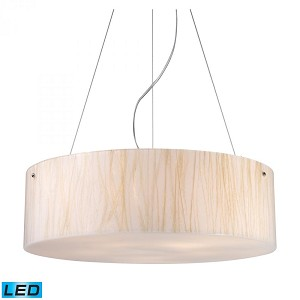 ELK Lighting Five Light Polished Chrome Drum Shade Pendant - 19033/5-LED