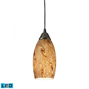 ELK Lighting One Light Nickel Down Pendant - 20001/1MG-LED
