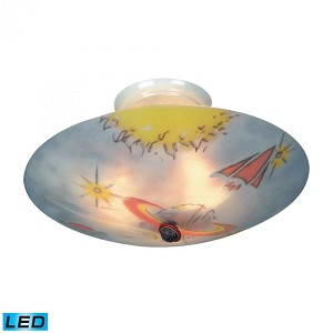 ELK Lighting Three Light White Bowl Semi-Flush Mount - 201-GE-LED