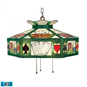 ELK Lighting Three Light Antique Brass Pool Table Light - 216-TX-LED