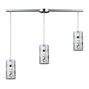 ELK Lighting Three Light Polished Chrome Multi Light Pendant - 31076/3L