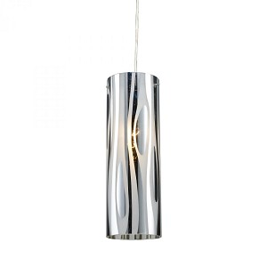 ELK Lighting One Light Polished Chrome Drum Shade Pendant - 31078/1