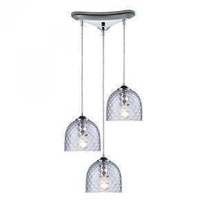ELK Lighting Three Light Polished Chrome Multi Light Pendant - 31080/3CLR