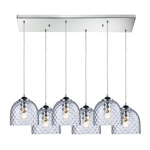 ELK Lighting Six Light Polished Chrome Multi Light Pendant - 31080/6rc-clr