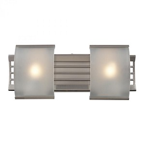 ELK Lighting Two Light Brushed Nickel Bathroom Sconce - 31356/2