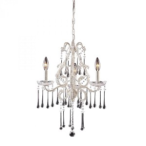 ELK Lighting Three Light Antique White Up Chandelier - 4001/3CL