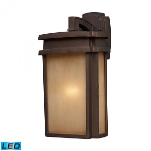 ELK Lighting One Light Clay Bronze Wall Lantern - 42141/1-LED