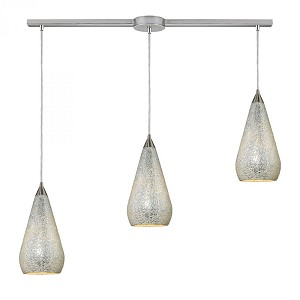 ELK Lighting Three Light Satin Nickel Multi Light Pendant - 546-3L-SLV-CRC