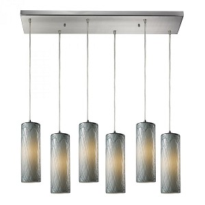 ELK Lighting Six Light Satin Nickel Multi Light Pendant - 551-6rc-md