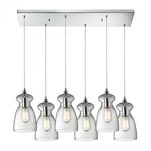 ELK Lighting Six Light Polished Chrome Multi Light Pendant - 60053-6rc