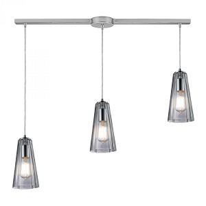 ELK Lighting Three Light Polished Chrome Multi Light Pendant - 60058-3L