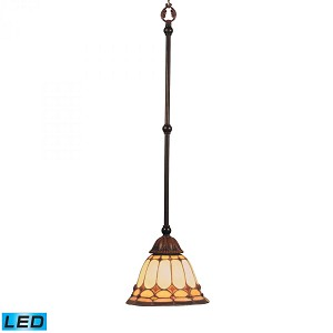 ELK Lighting One Light Burnished Copper Down Mini Pendant - 648-BC-LED