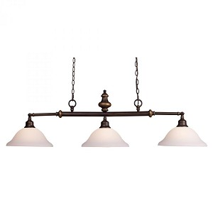 ELK Lighting Three Light Aged Bronze Pool Table Light - 66175-3