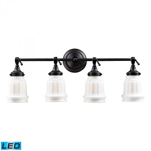 ELK Lighting Four Light Oiled Bronze Vanity - 66214-4-LED