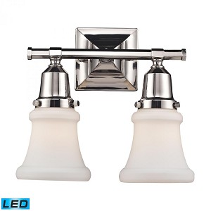 ELK Lighting Two Light Polished Nickel Vanity - 66231-2-LED