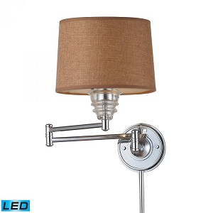 ELK Lighting One Light Polished Chrome Wall Light - 66804-1-LED