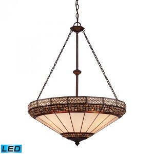 ELK Lighting Four Light Burnished Copper Up Pendant - 70079-4-LED