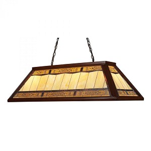 ELK Lighting Four Light Dark Mahogany Wood Pool Table Light - 70112-4