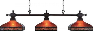 ELK Lighting Three Light Mission Bronze Pool Table Light - 770/3-MB-A