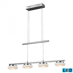 ELK Lighting Four Light Chrome Island Light - 81053/4