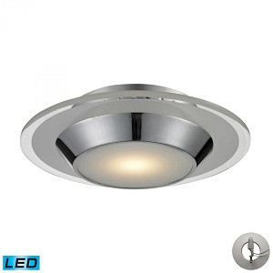ELK Lighting One Light Chrome Bowl Flush Mount - 81060/1-LA