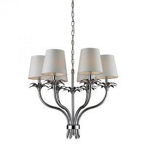 ELK Lighting Six Light Chrome Up Chandelier - 83030/6